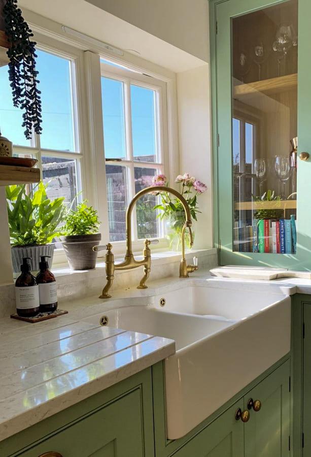 Kitchen Window Designs - Asymmetrical Kitchen Window
