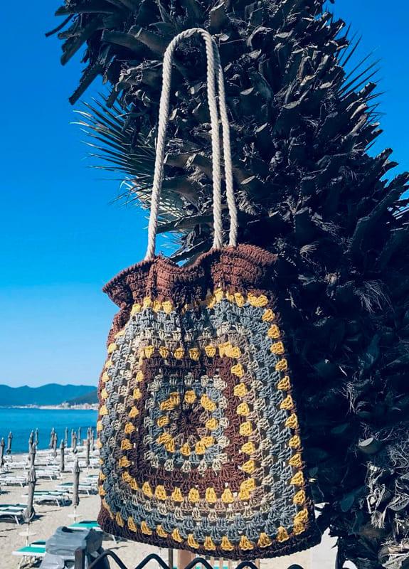 New summer granny square crochet bag