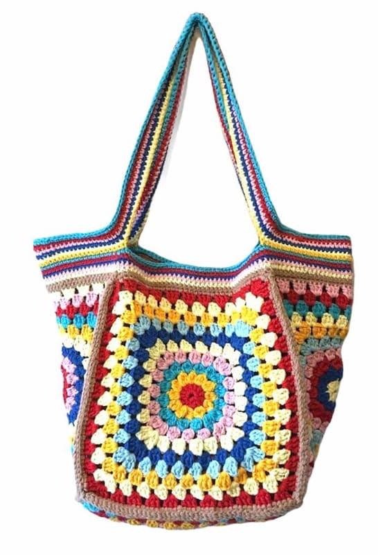 granny square crochet bag