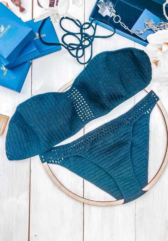 awesome blue crochet biki design ideas