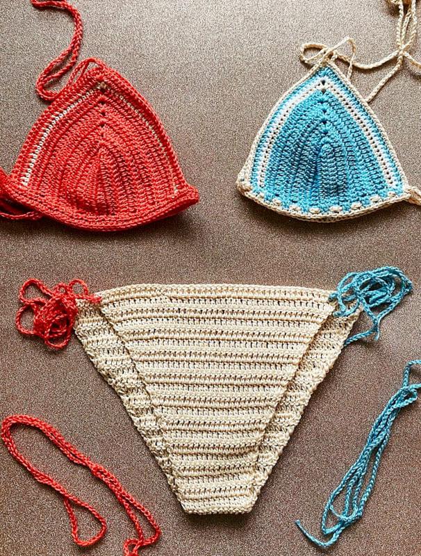 awesome colors crochet bikini