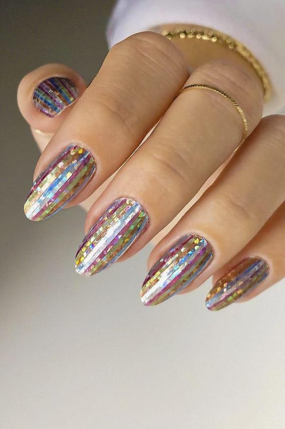 Metallic Nail Polish Designs