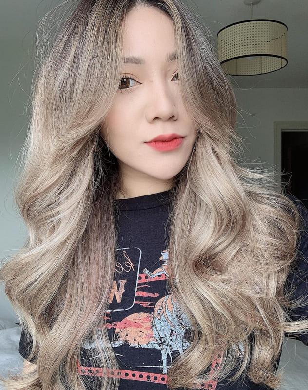 Ash blonde asian hair