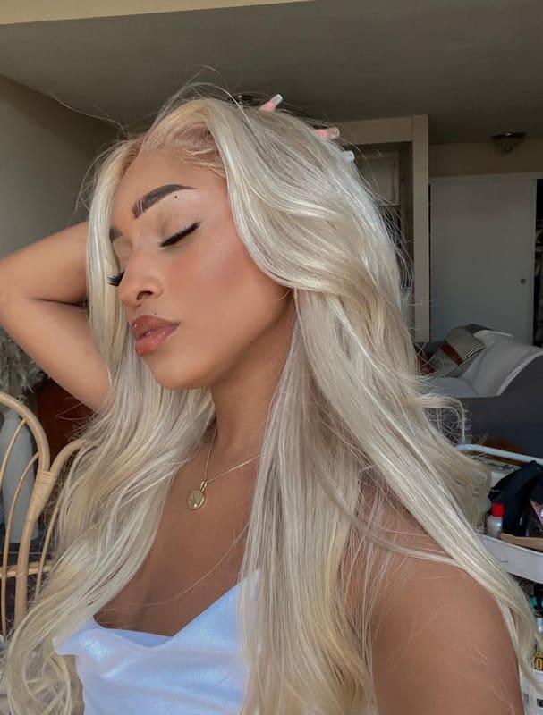 Ash blonde wig