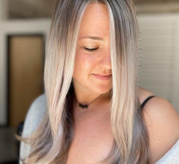 Ash platinum blonde hair