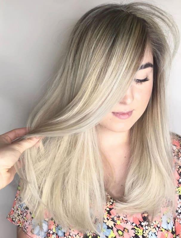 Extra light ash blonde hair