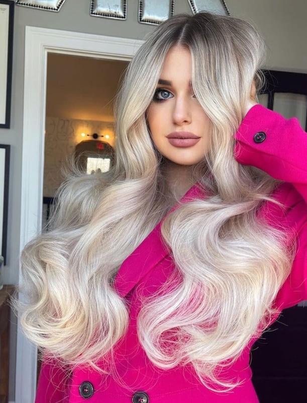 Platinum ash blonde hair