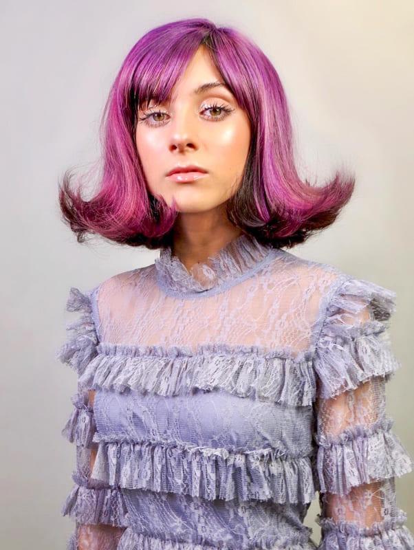 Plum purple hair