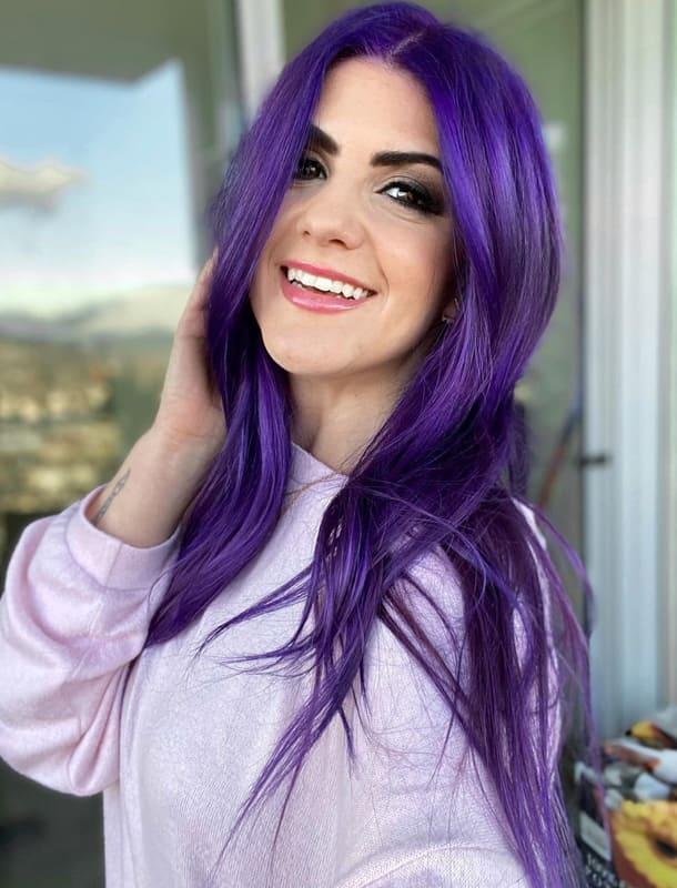 Violet purple hair