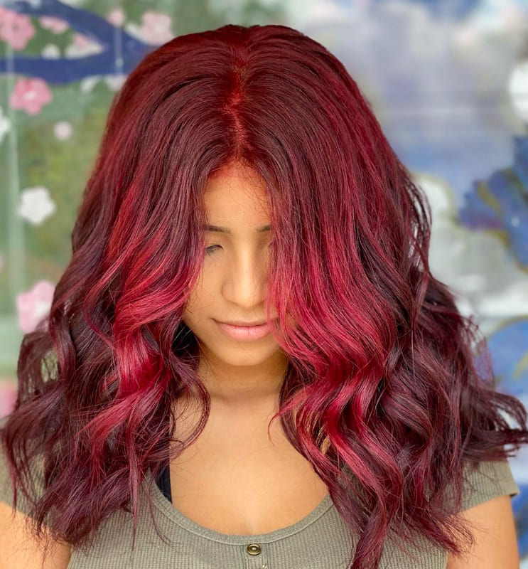 15 Awesome Burgundy Hair Colors and Ideas 2022 (2)