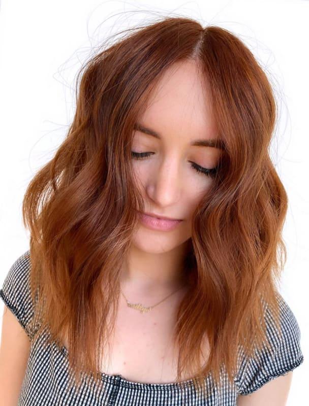 Chestnut brown Fine hair color