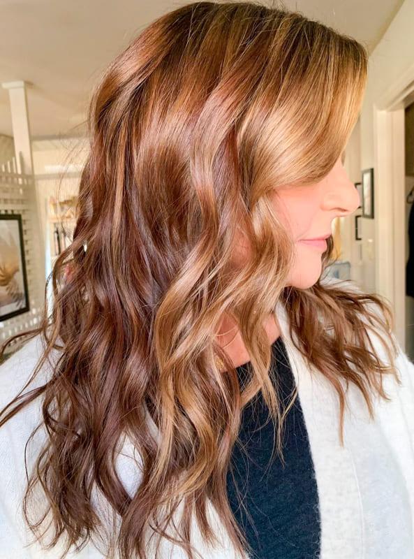 Light chestnut brown hair