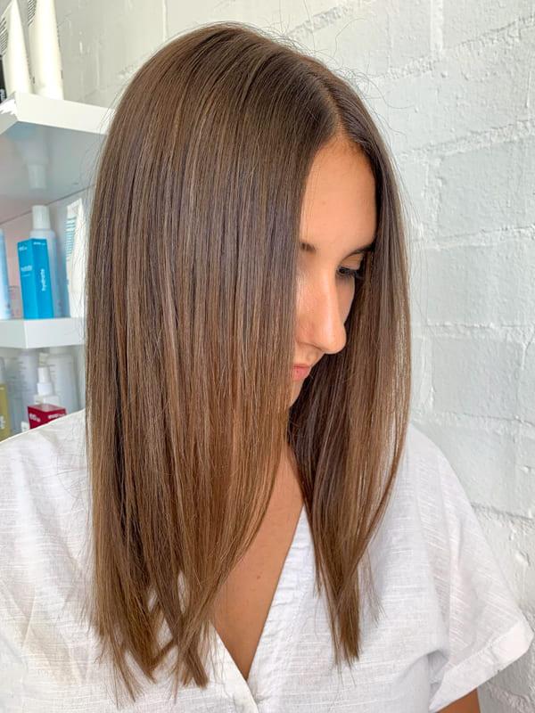 Medium straight chestnut brown hair