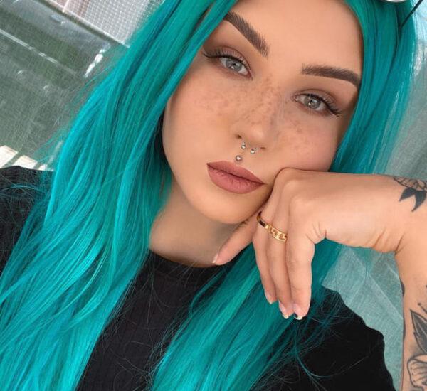 Aqua blue hair