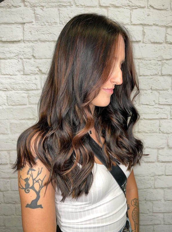 chestnut brown hair extensions