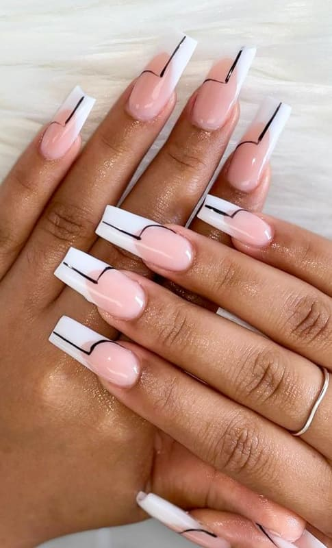 18 French Nails Design Ideas That will break the rules! (2)
