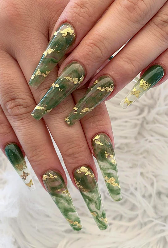 22 Gorgeous Coffin Nails Design and Color Ideas (1)