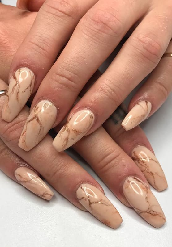 23 Marble Nails Design Ideas and Colors 2022 (3)