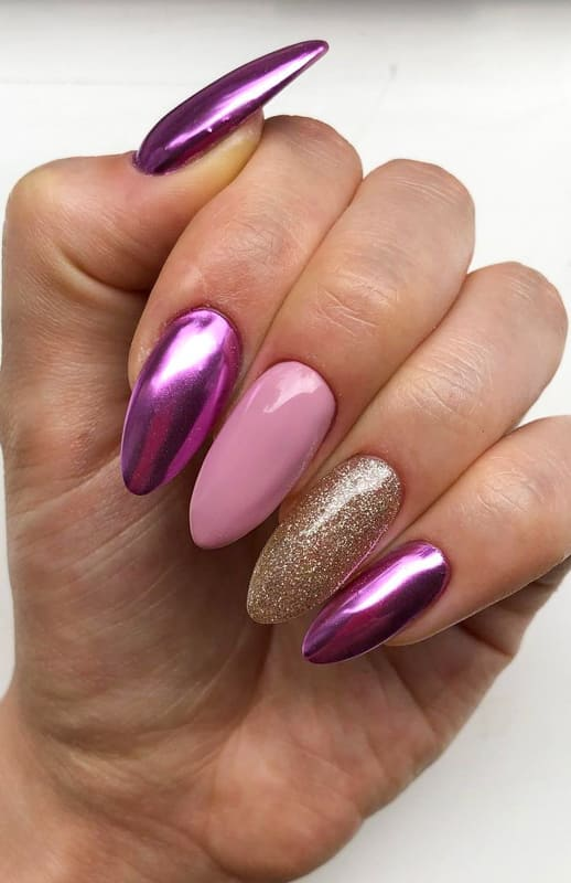 25 Best Almond Nails Shapes and Color Ideas 2022 (2)