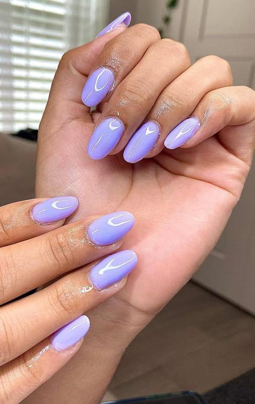 Almond classic lavender nails
