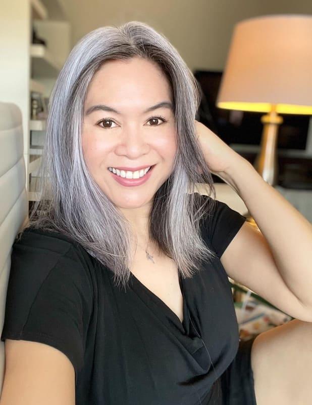 Asian silver hair