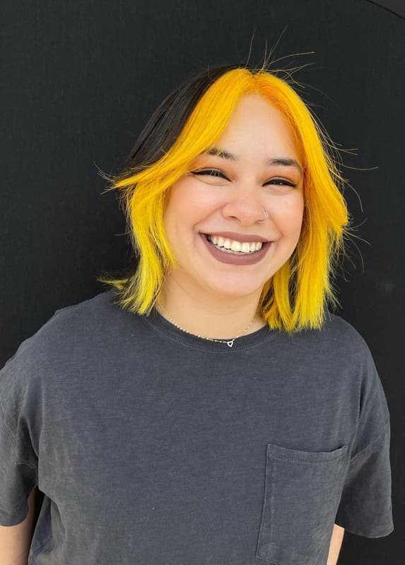 Black and yellow hair