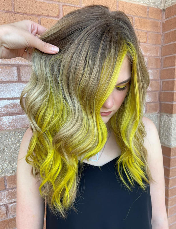 Blonde and yellow hair