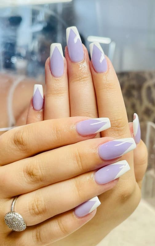 Easy and long lavender nails