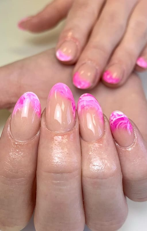 French marble nails