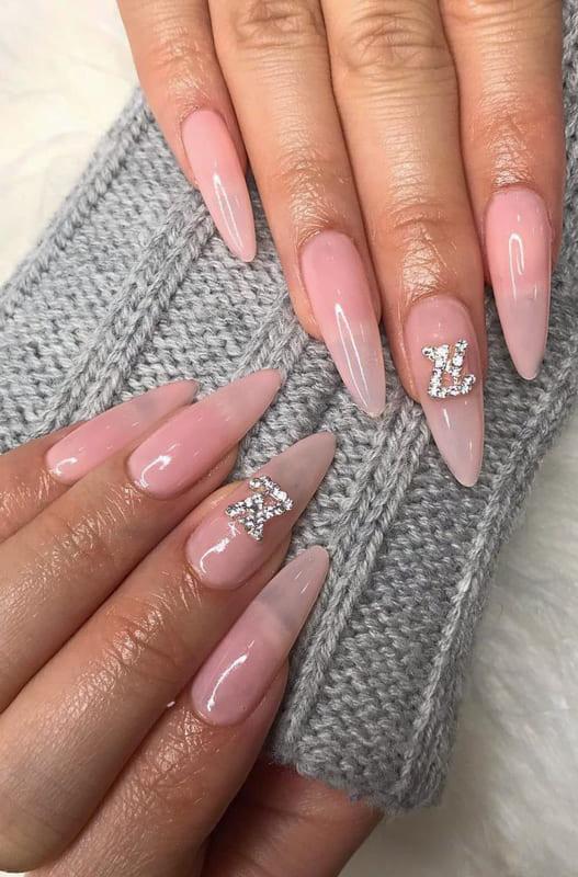 Long almond stiletto nails