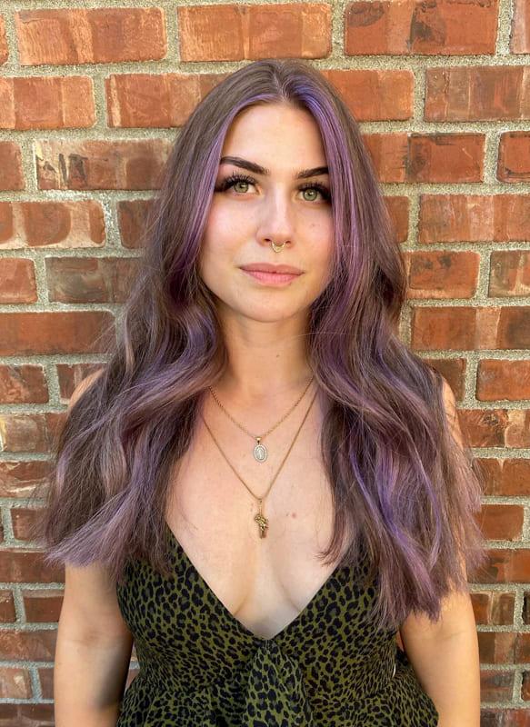 Long dusty lavender hair