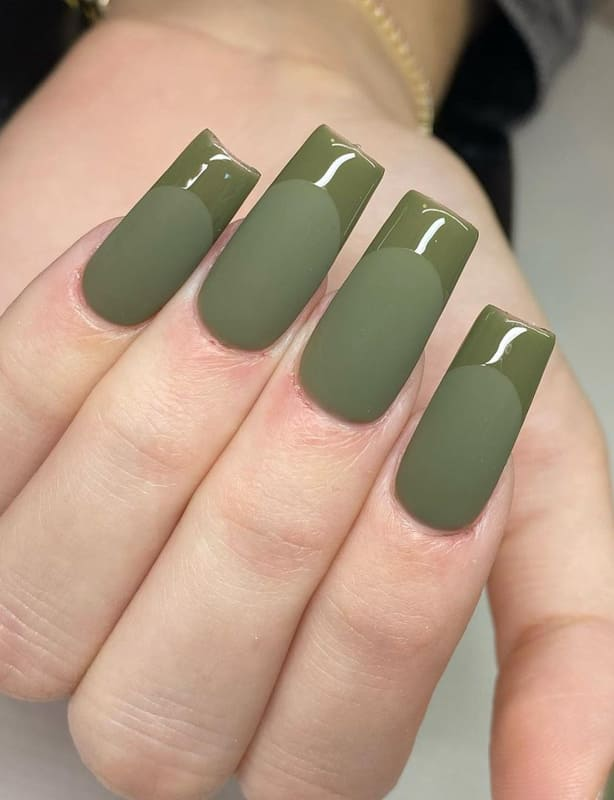 Matte and glossy nails