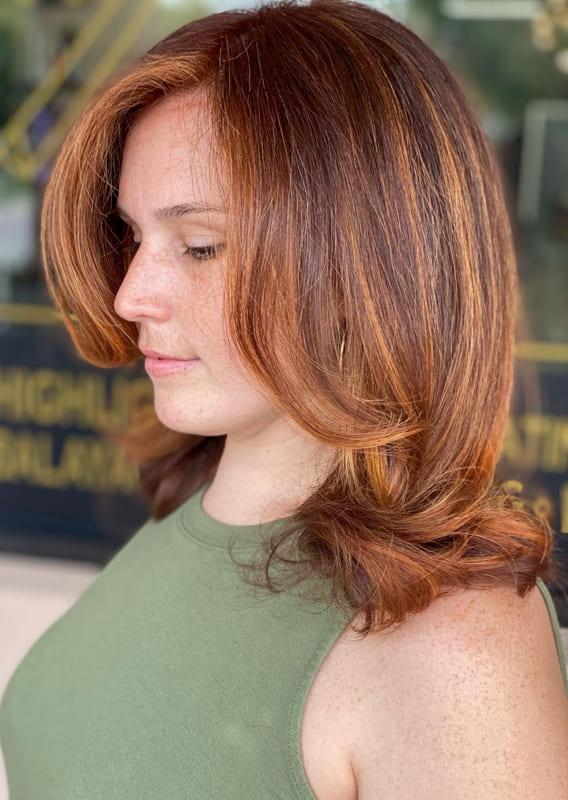 Medium Orange brown hair