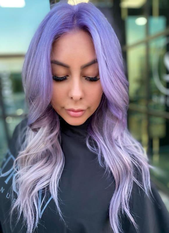 Medium lavender purple hair
