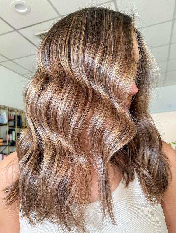 Medium light caramel hair color