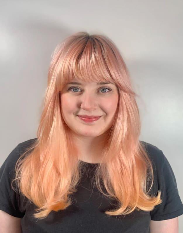 Medium light orange hair