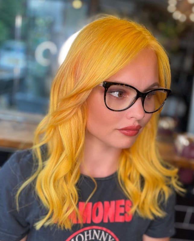 Medium orange and yellow hair