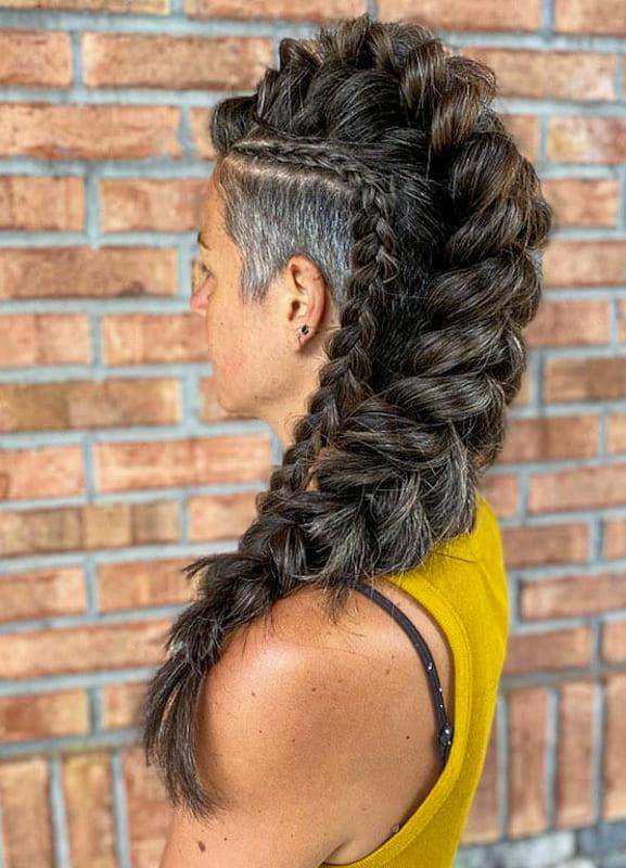 Over 40s Fishtail viking braids