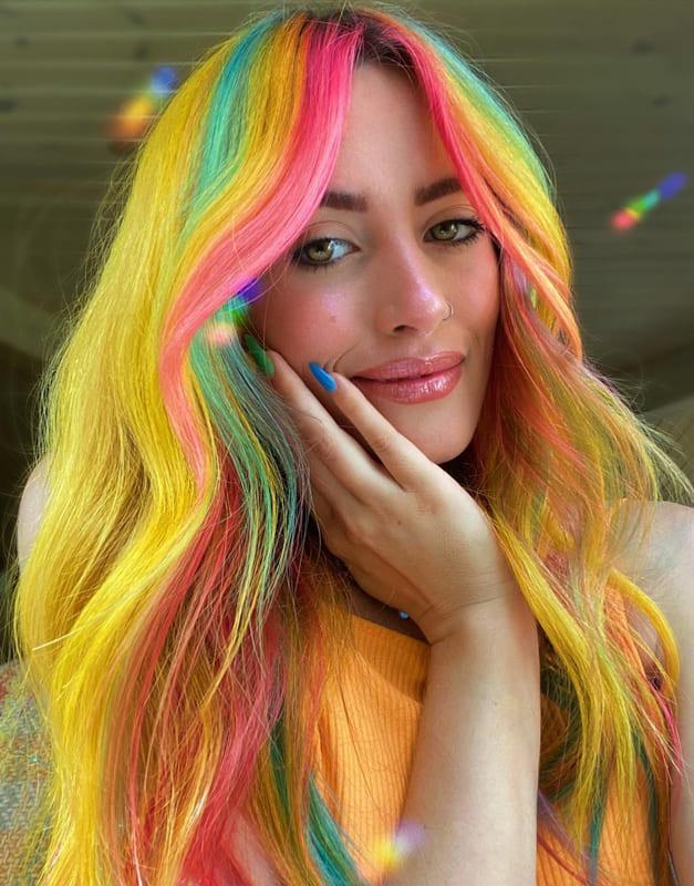 Rainbow medium yellow hair