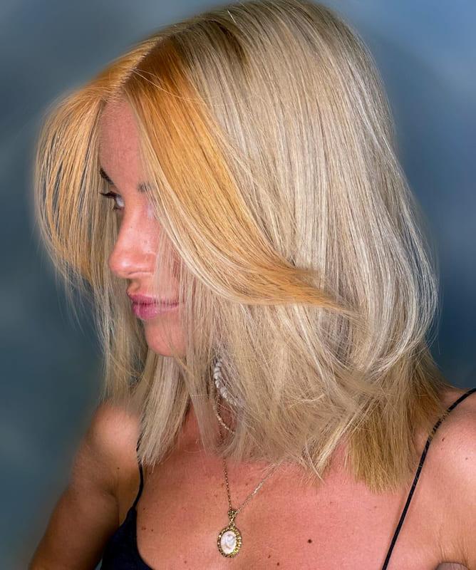 Short orange blonde hair