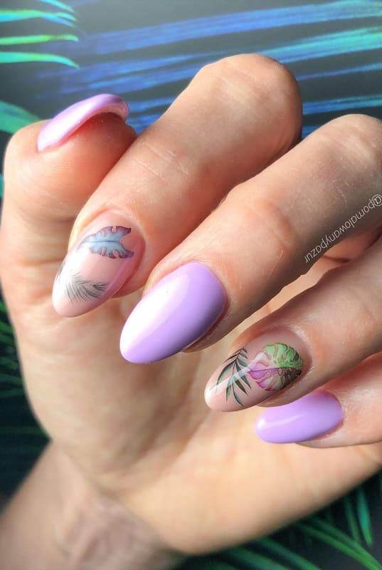Spring lavender nails