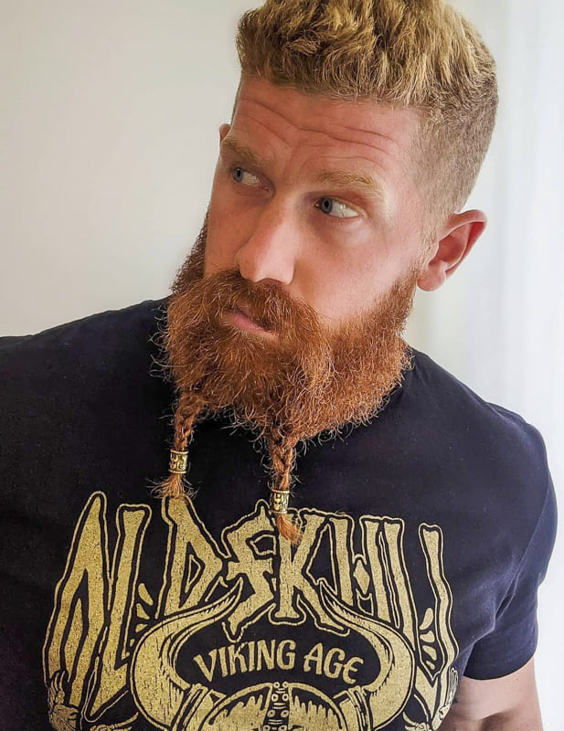 Viking beard braids for men
