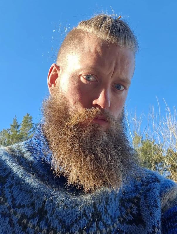 Viking braids and looks male