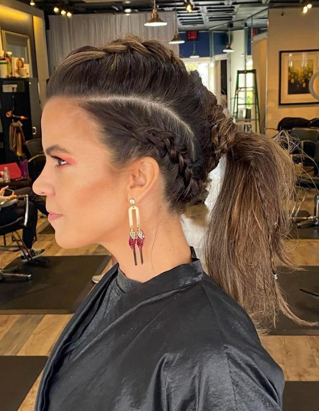 Viking braids with ponytail