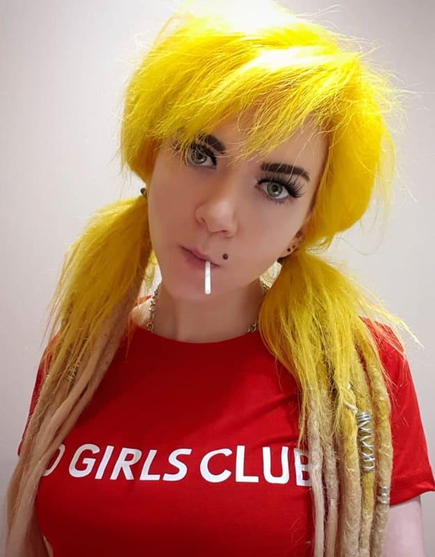 Yellow hippie hair